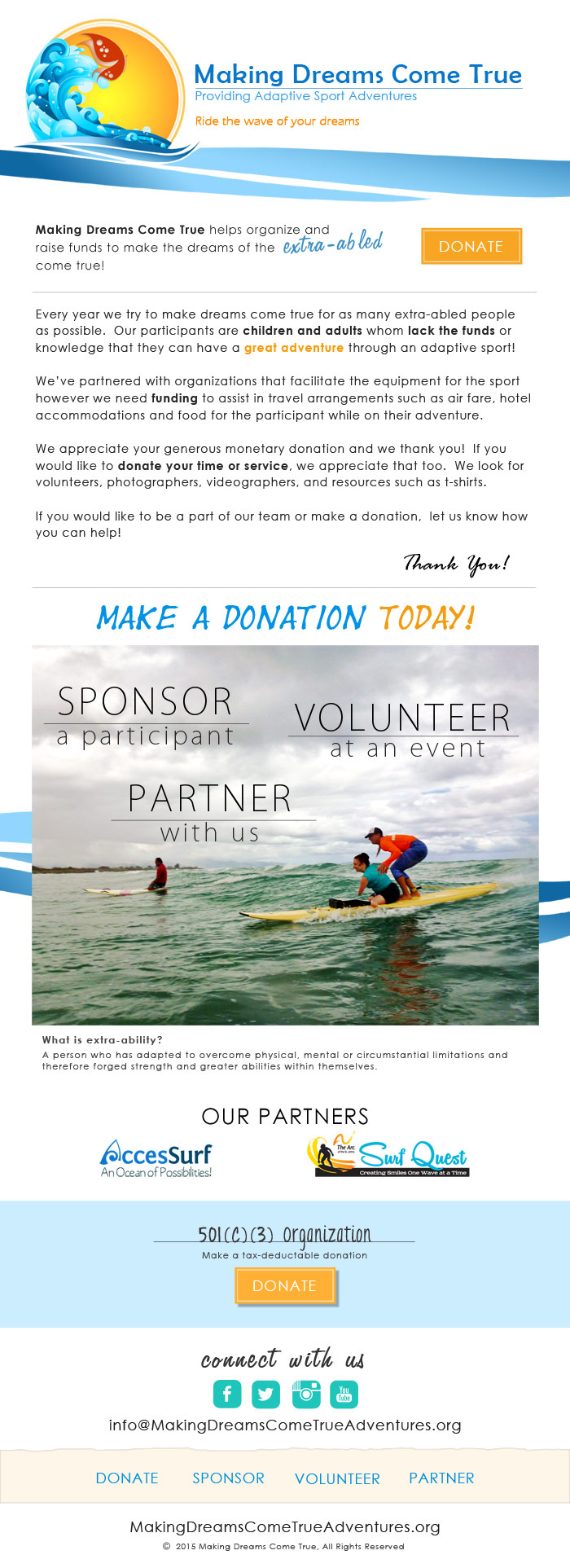 MDCT Donation Email Blast